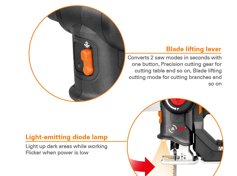 Worx Electric Saw  Blade Lifting lever