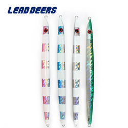 Leaddeers wysokiej jakości jigowanie przynęta realizacji metalowe przynęty jigowe 120 160 200g 4 kolory przynęta na ryby słonowodne głębinowych płyta żeliwna przynęty w Przynęty od Sport i rozrywka na