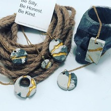 Necklace Pendant Concrete Molds DIY handmade jewelry drops Resin Molds