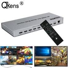 4K HDMI 8x1 Quad multi viewer Switcher 8 w 1 Out bezproblemowy przełącznik 4x1 Multi viewer PIP obraz ekran dzielnik konwerter wideo
