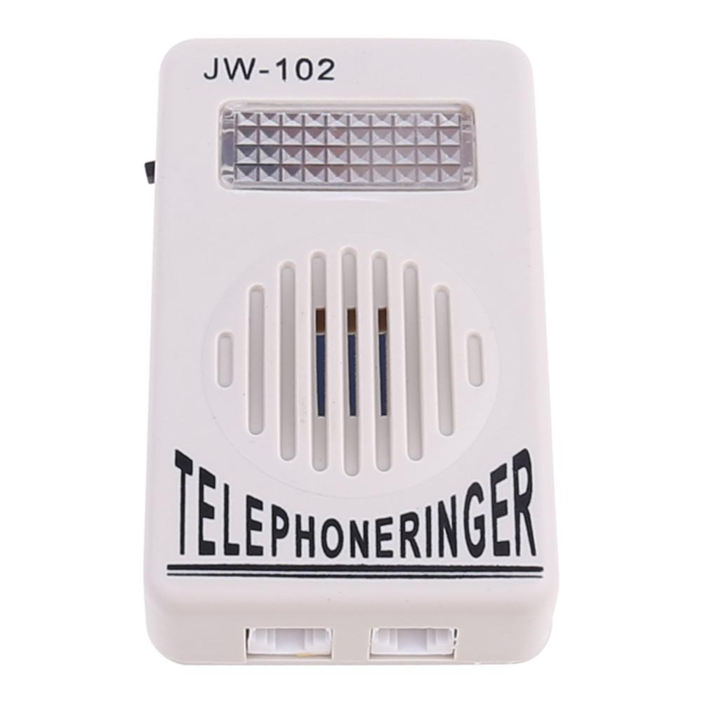 Telephone Ringer Phone Amplifier Ring Speaker Strobe Light Flasher Bell Extra-Loud Sound Wall Hanging