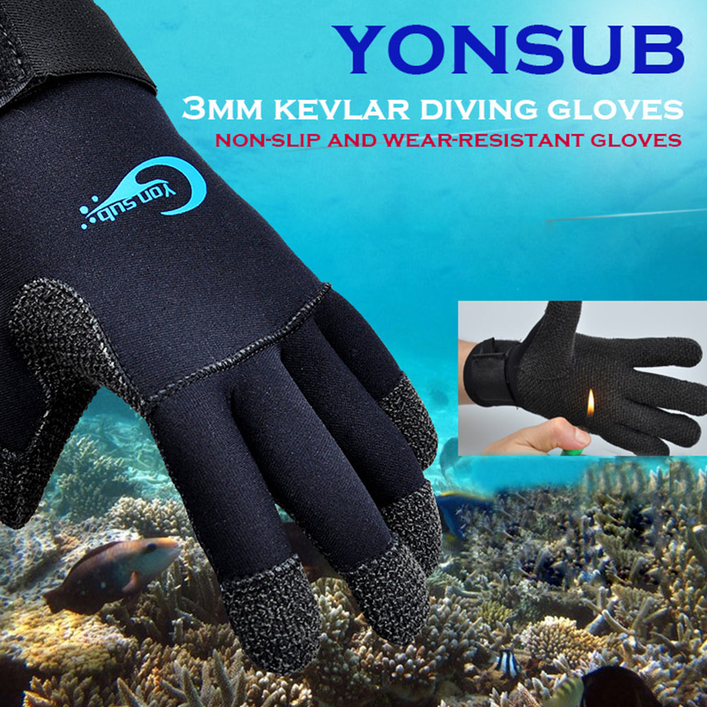1 Pair Adjustable Snorkeling Boating Fishing Non Slip Anti Scratch Underwater Warm Surfing Diving Gloves Men Women 3mm Swimming