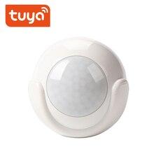 Tuya pir sensor de movimento alimentado por bateria wifi detector interior ao ar livre casa sistema alarme trabalho com inteligente app notificações