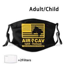12th divisão de cavalaria/a primeira equipe máscara adulto criança lavável pm2.5 filtro logo criatividade 1st divisão de cavalaria a primeira