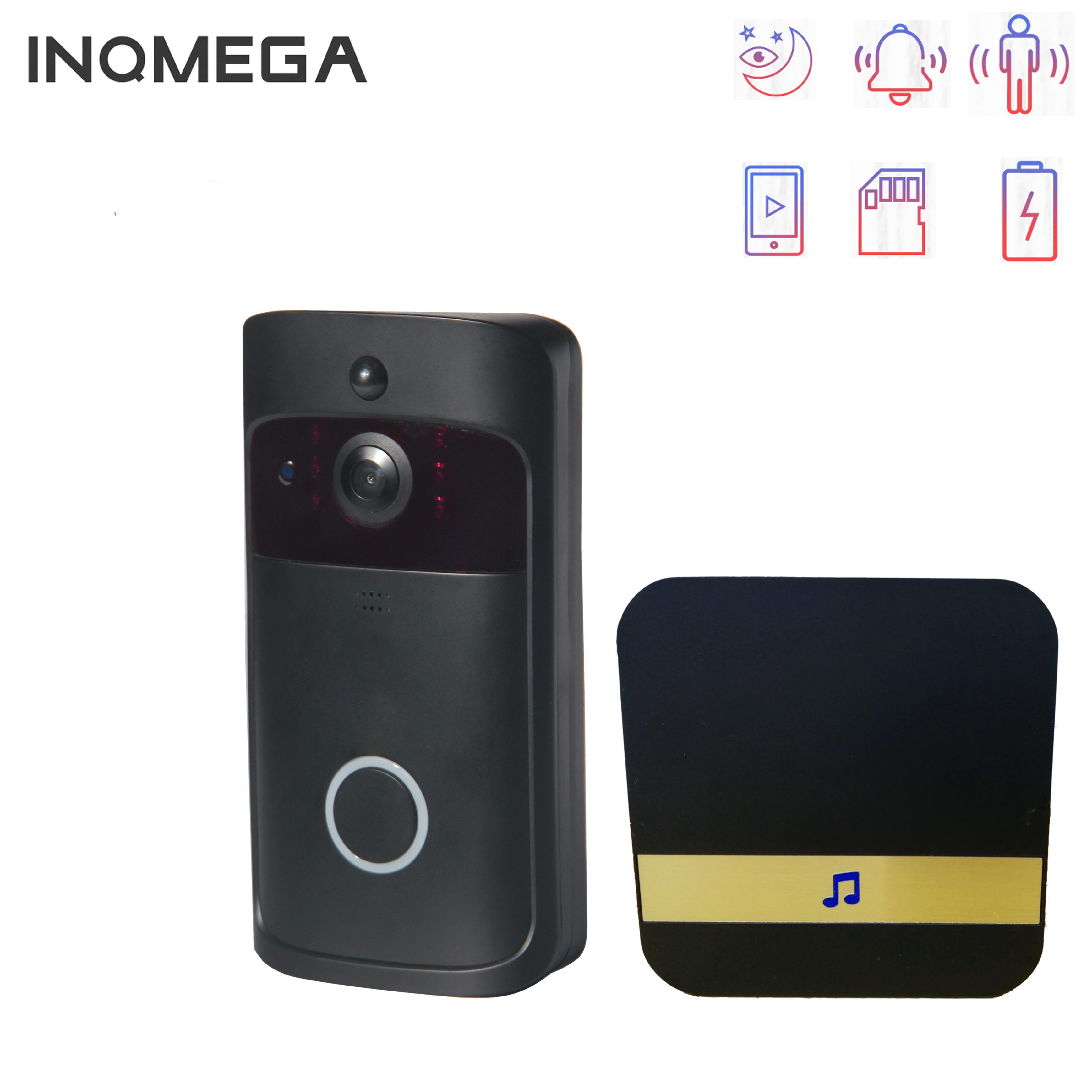INQMEGA Smart IP Video Intercom WI-FI Video Door Phone Door Bell WIFI Doorbell Camera  IR Alarm Wireless Security Camera