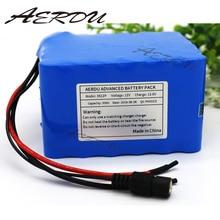 цены AERDU 3S12P 12V 30Ah 11.1V 12.6V Rechargeable lithium-ion battery pack For inverter miner Hernia lamp Solar street light 60A BMS