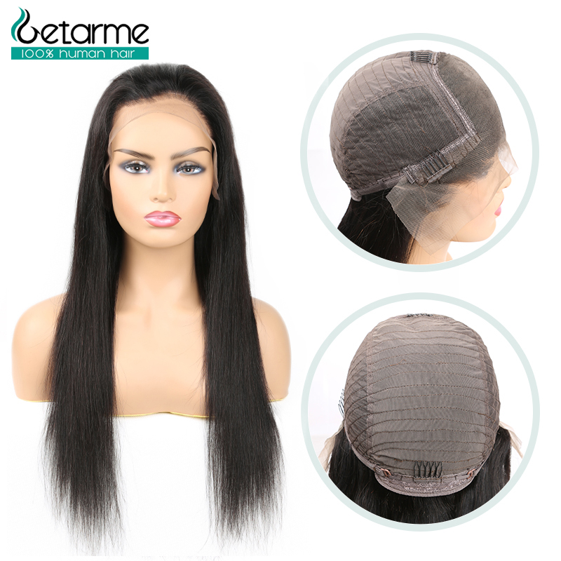 13x6 Lace Front Human Hair Wigs Straight Pre Plucked Hairline Baby Hair 12-26 130% Malaysian Non Remy Human Hair Lace Front Wigs