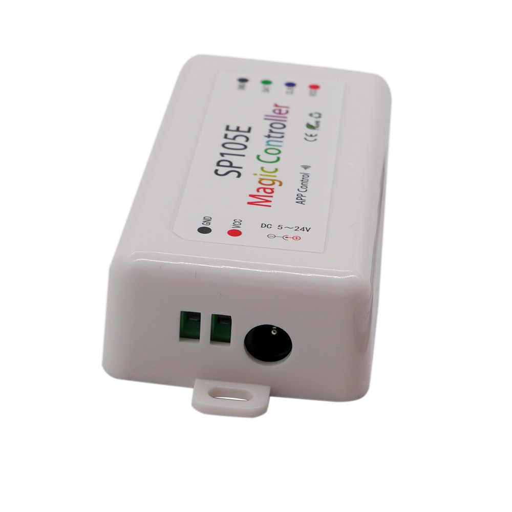 SP108E wifi WS2811 WS2812B Led pilot do muzyki SP107E SK6812 SP105E Bluetooth APA102 SP110E WS2801 pikseli taśmy Led DC5-24V