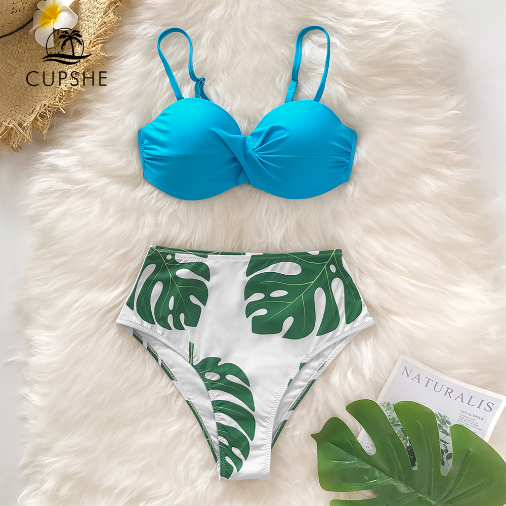 CUPSHE Blue and Tropical…