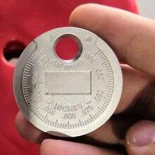 1 шт. измеритель зазора свечи зажигания инструмент измерения монетного типа 0,6-2,4 мм Диапазон Свеча зажигания Система зажигания