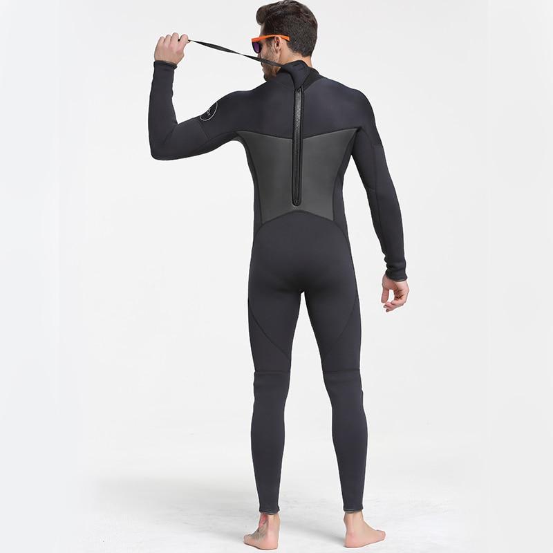 Date 3mm néoprène combinaison hommes femmes maillot de bain équipement pour la plongée sous-marine natation surf chasse sous-marine costume Triathlon combinaisons - 5