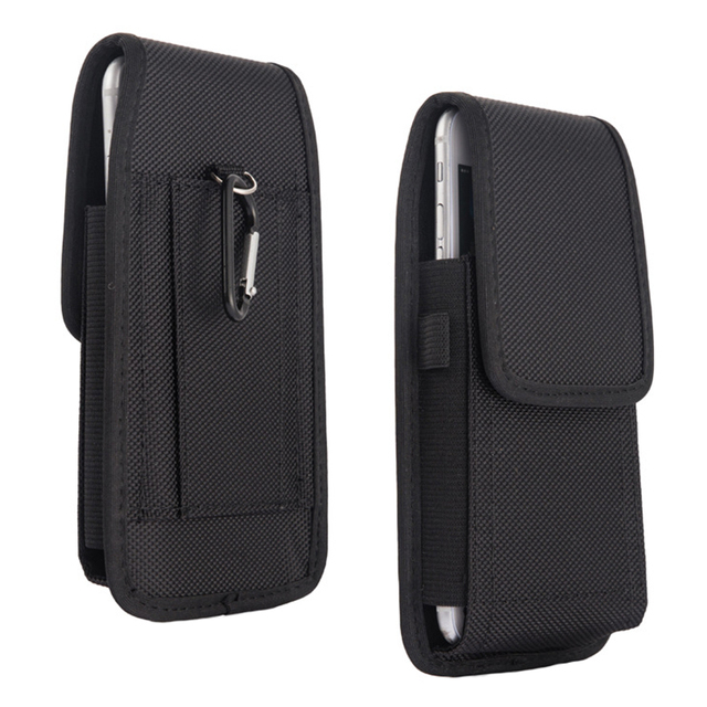 Mobile Phone Waist Bag 5.2 6.3inch for Iphone for Samsung for Xiaomi Huawei Hook Loop Holster Pouch Belt Waist Bag Cover Case