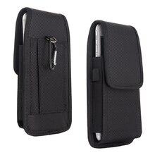 Téléphone portable taille sac 5.2 6.3 pouces pour Iphone pour Samsung pour Xiaomi Huawei crochet boucle étui pochette ceinture taille sac housse