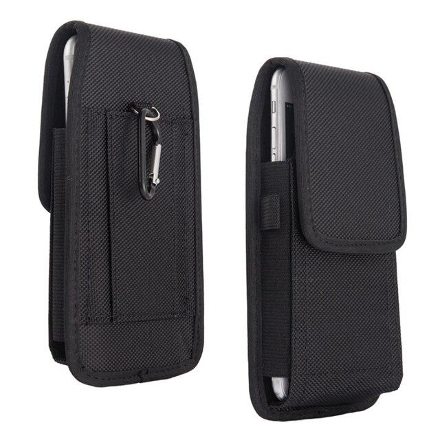Điện Thoại di động Eo 5.2 6.3inch cho Iphone dành cho Samsung dành cho Xiaomi Huawei Móc Vòng Bao Da Túi Thắt Lưng thắt lưng Túi Cover