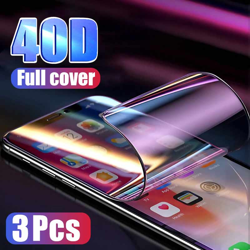 3Pcs 40D Screen Protector For IPhone 11 6 6s 7 8 Plus X XS On The For IPhone XR XS 11 Pro Max Soft Protective Film Not Glass