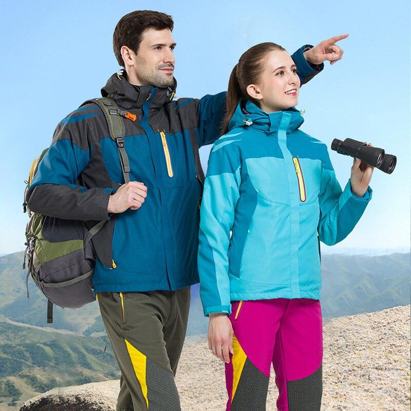 Veste de Ski d'hiver femmes polaire chaud Snowboard manteaux hommes 2 pièces sweat à capuche sport hommes Ski vestes thermique montagne vêtements d'extérieur