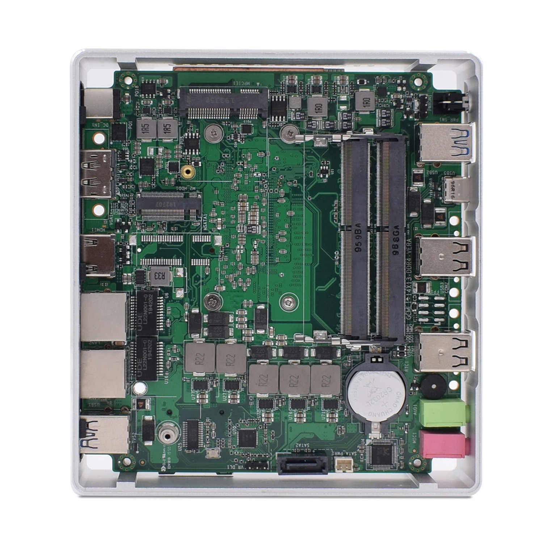 2020 10th TOPTON Novo Gen Mini PC Computador Intel i7-10510U 2 * DDR4 M.2 2 * LAN 4K HTPC SSD Windows Linux 10 USB-C 8 * USB HDMI WiFi DP