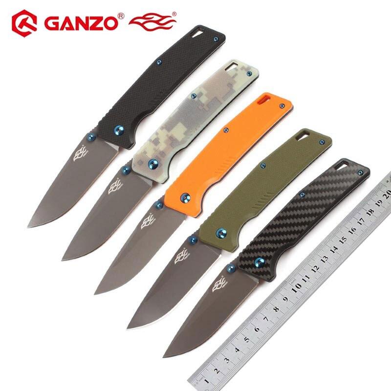 58-60HRC Ganzo FB7603 440C G10 Or Carbon Fiber Handle Folding Knife Survival Camping Tool Pocket Knife Tactical Edc Outdoor Tool