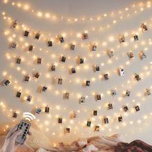 10m 20 luz de fundo led string luzes ao ar livre para festa de natal em casa dia das bruxas decoração usb guirlandas controle rem
