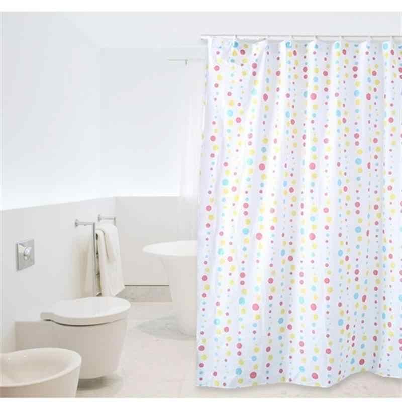 Cortina de banheiro peva longo banheiro cortinas de chuveiro à prova dmilágua oídio resistente tecido cortina de chuveiro 1.5x1.5m (cor aleatória)