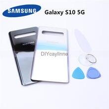 Original samsung habitação capa traseira casos para samsung galaxy s10 5g versão telefone porta traseira da bateria com ferramentas