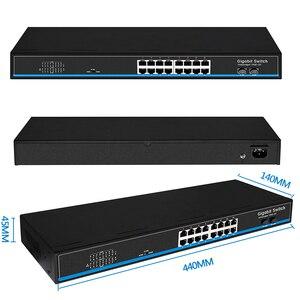 Image 4 - 16 portów 24 Port RJ45 przełącznik Gigabit Ethernet lan przełącznik ethernet przełącznik z 2 gigabit SFP do kamery ip AP bezprzewodowy