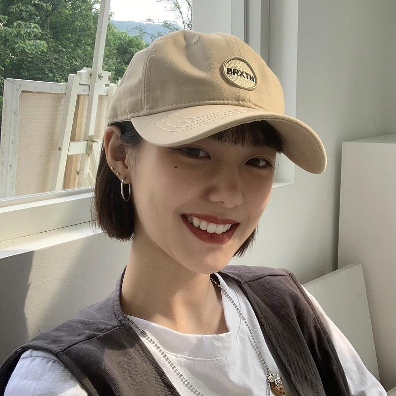 Korean Version Letter Labeling Design Peaked Cap For Women Tide Casual Baseball Cap Internet Sensation Vintage Sun Hat Female