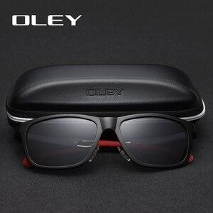 Image 2 - OLEY Neue Aluminium Magnesium Polarisierte Männer Sonnenbrille Erweiterbar hohl bein spezielle anti slip design Anpassbare logo Y7144
