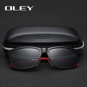 Image 2 - OLEY New Aluminum Magnesium Polarized Men Sunglasses Expandable hollow leg special anti slip design  Customizable logo Y7144
