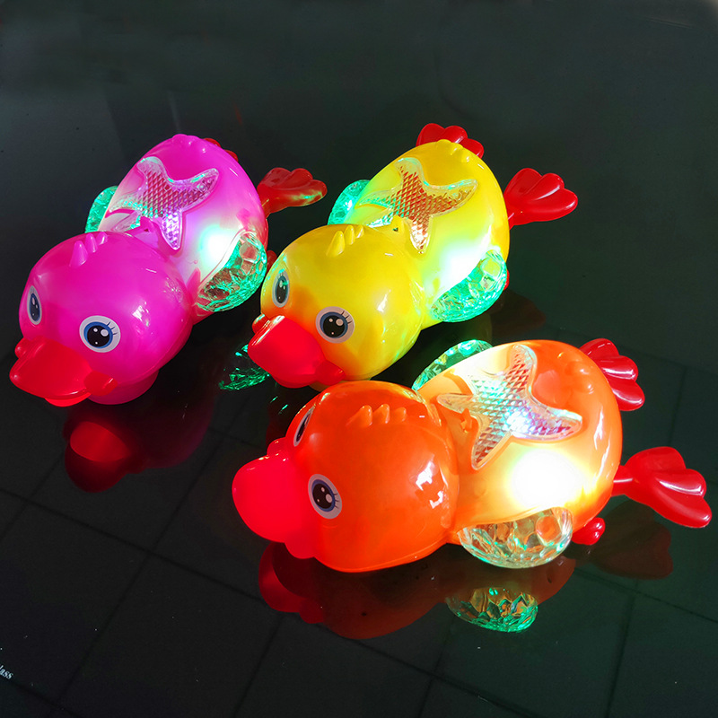 Hot Cute Electric Music Walking Duck Toy LED Light Glow Electronic Pets Lantern Toy Children Kids Baby Girl Boy Educational Toys