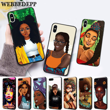 цены WEBBEDEPP 2bunz Melanin Poppin Aba Silicone soft Case for iPhone 5 SE 5S 6 6S Plus 7 8 X XS Max XR