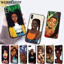 цены WEBBEDEPP 2bunz Melanin Poppin Aba Silicone soft Case for iPhone 5 SE 5S 6 6S Plus 7 8 X XS Max XR