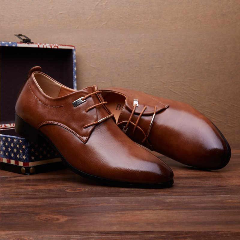 Ý Đen Trọng Nam Cho Nữ Áo Cưới Cho Nam Bằng Sáng Chế Da Giày Oxford Nam Chaussures Hommes En Cuir mới