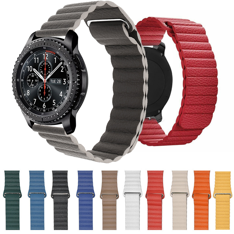 Soft Strap For Samsung Galaxy 42/46mm Gear S3 Galaxy Watch Active Watch 20mm 22mm Genuine Leather  Strap Quick Release Bracelet