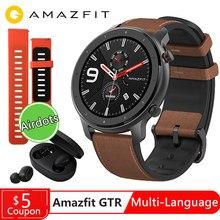 Globalna wersja Amazfit GTR 47mm inteligentny zegarek działa sporty pływackie zdrowie inteligentny zegarek z funkcją pomiaru rytmu serca 24 dni baterii GPS
