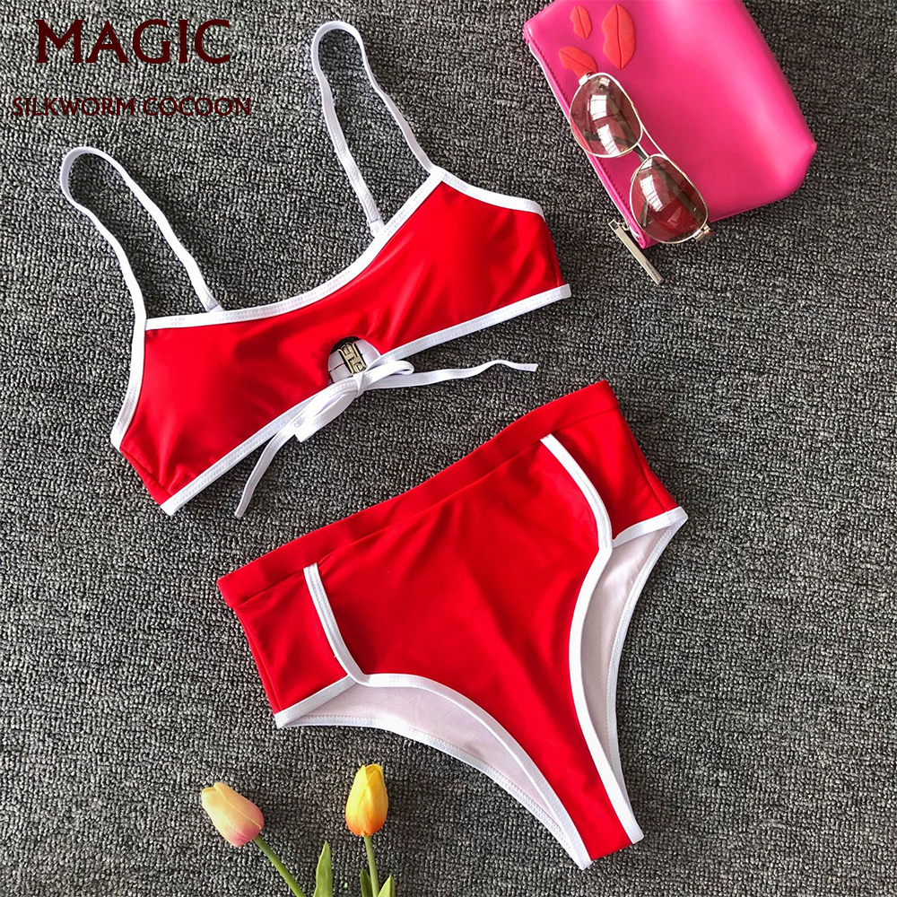 Bikinis Female 2 Piece Swimsuit Women Brazilian Swimwear Sport Swimsuit Sexy High Waist Bathers Bikini Set Push Up Bathing Suit
