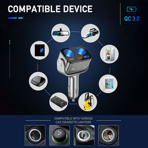 Image 4 - Enchufe de encendedor de coche, cargador Dual USB QC 3,0, carga rápida, 12V, enchufe adaptador de corriente