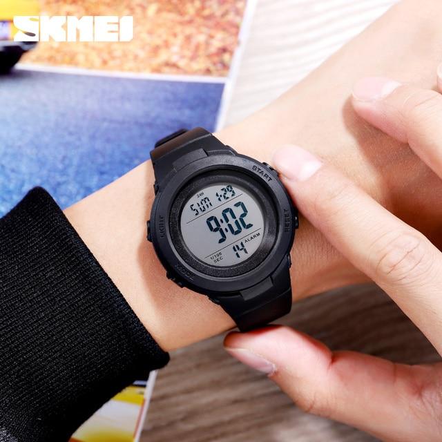 Skmei duplo tempo relógios esportivos digitais dos homens 5bar à prova dshockproof água à prova de choque relógios de pulso de hora moda casual reloj hombre 1615 5