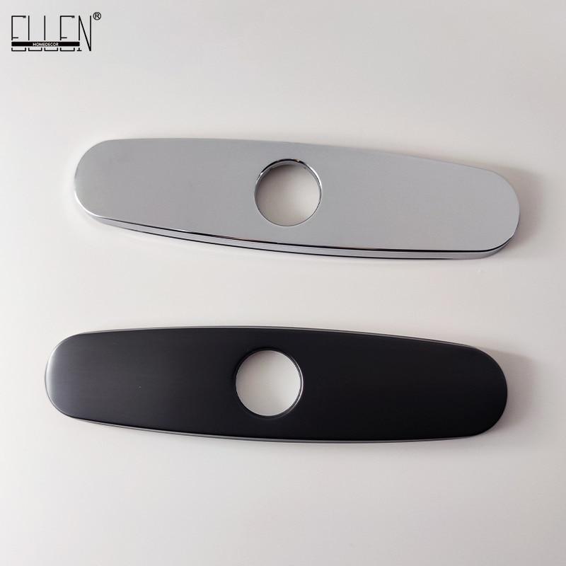 Len – couvercle de trou d'évier chromé noir, finition décorative pour lavabo EL8