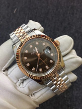 Luxury Brand Automatic Mechanical Women Lady Datejust Stainless Steel Sapphire Silver Rose Gold Diamond Rome Black Watch 31mm(China)