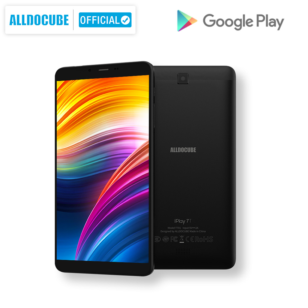 Alldocube IPlay 7T Quad Core Tablet Android 9.0 4G LTE  CPU Unisoc SC9832E RAM 2GB ROM 16 GB  720*1280 IPS AI Tablet PC