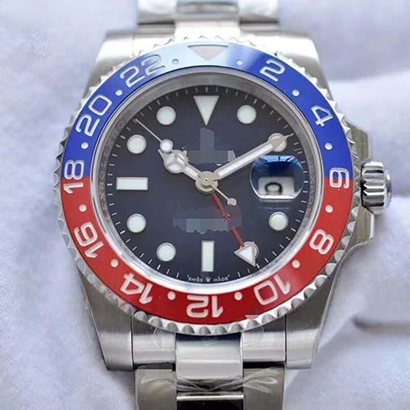 Men Rolexablen GMT Watch Waterproof Mechanical Movement Original Box