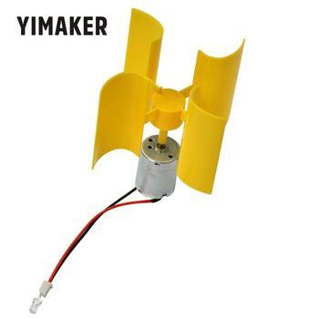 YIMAKER 1 szt Miniaturowa oś pionowa wiatr alternatywny Generator energii technologia majsterkowania diy wykonywanie zasady fizycznej mocy tanie i dobre opinie A4F165 Generator energii wiatru
