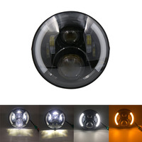 7 LED Headlights for Jeep Wrangler 7 inch Hi/Lo Beam Motorcycle Driving Light with DRL Turn Signal Halo Ring for FLD Touring