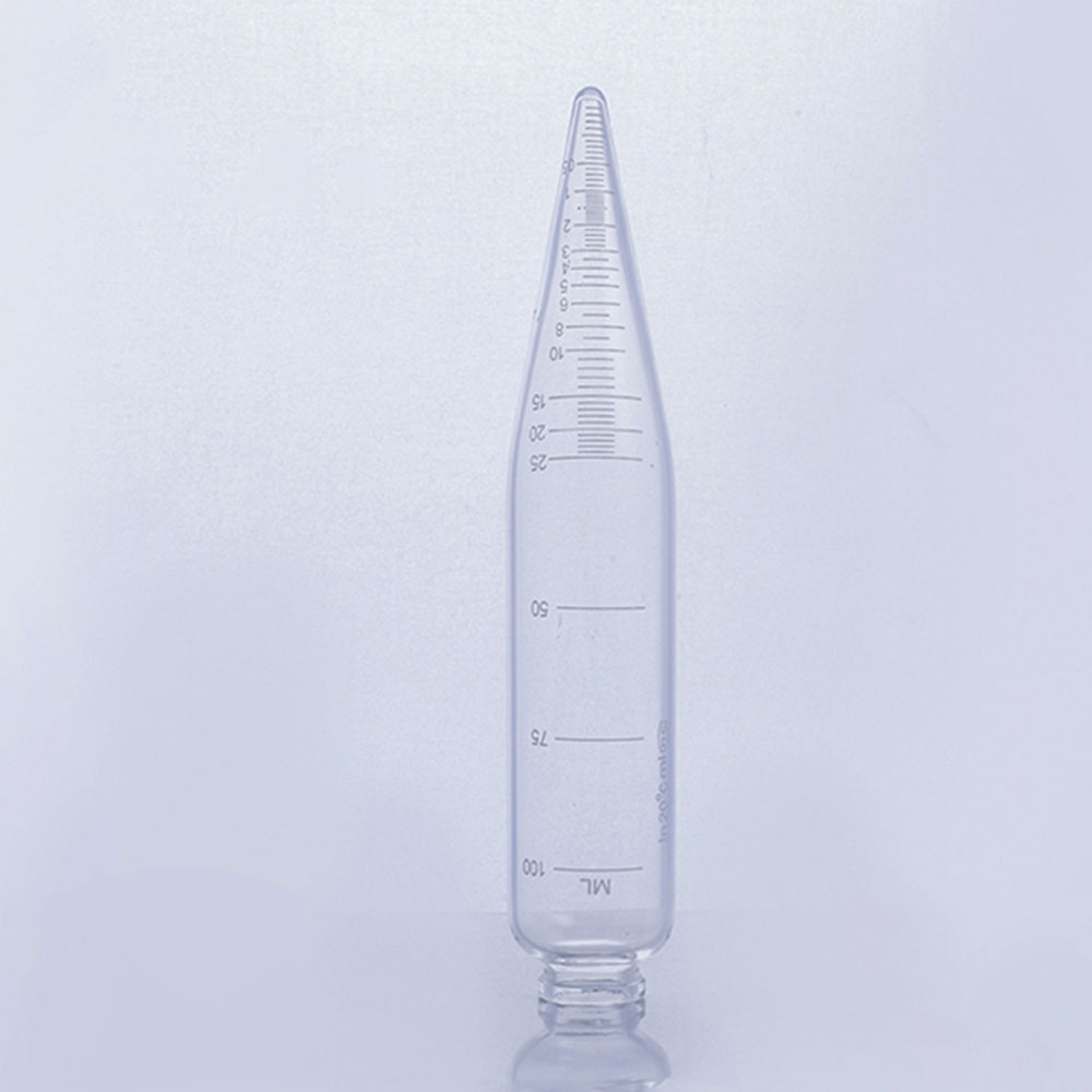 1pc 100ml Glass Graduated Centrifuge Tube Glass Cylinder Lab Supplies