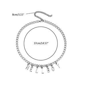 Серебряные кулоны с буквами «Хеллбой», ожерелье для женщин, трендовые вечерние ожерелья, модные ювелирные изделия, M0XF