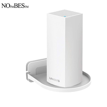 Wall Mount Holder stand For Home Mesh Wifi system support Tenda Nova Linksys Velop TP-Link D-Link Google Nest Wifi router cheap NOTMBESTM UW02 Plastic Black