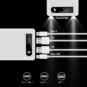 Image 3 - 10*18650 Power Bank Dual USBโทรศัพท์มือถือFast Charger Storage DIY Shell Digital Display 18650แบตเตอรี่ผู้ถือกล่องชาร์จ