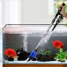 16W środek do czyszczenia akwarium narzędzia silne ssanie próżniowe żwir syfon obsługiwany akwarium płuczka piasku zmieniacz wody filtr syfonowy pompa