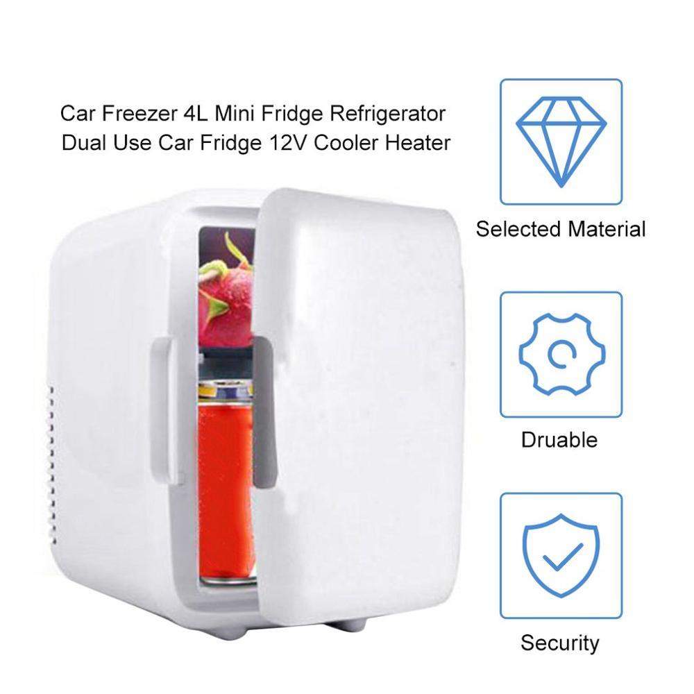 2019 популярная портативная Автомобильная морозильная камера 4 л мини-холодильник автомобильный холодильник 12 В кулер нагреватель универсальные детали для транспортных средств